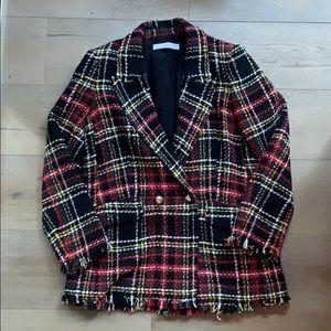 MANGO (MNG basics) Button Tweed Blazer - US XS